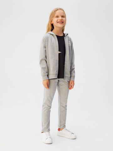 מכנסי טרנינג עם סטריפים ריב
