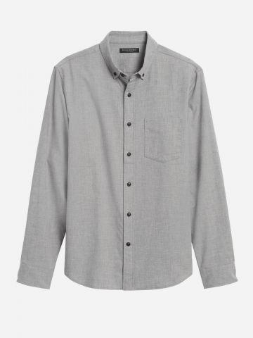 חולצת פלנל מכופתרת Slim-Fit / גברים