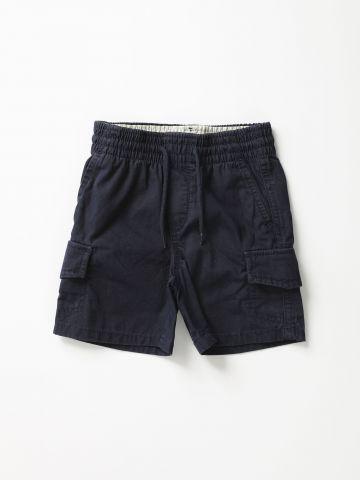 מכנסי ברמודה קצרים עם כיסים / 12M-5Y