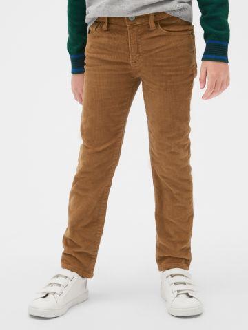 מכנסי קורדורוי ארוכים Slim-fit / בנים