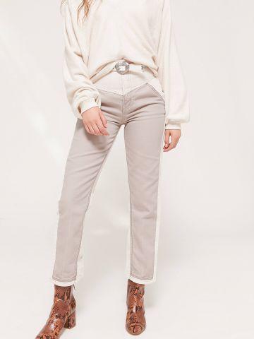 מכנסי קורדרוי קולור בלוק גזרה גבוהה / BDG