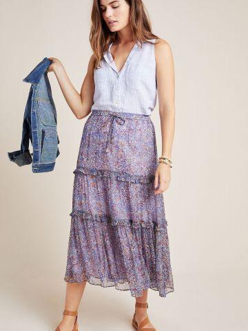 חצאית מידי קומות בהדפס פרחוני Maeve
