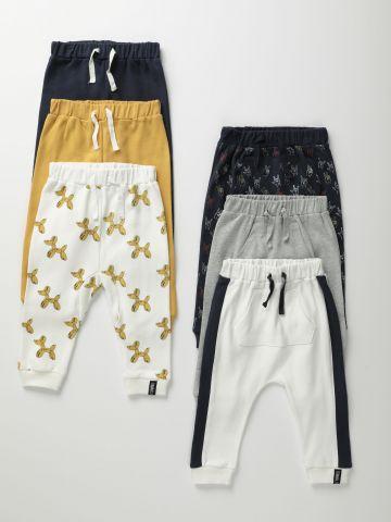 מארז 6 מכנסיים ארוכים בהדפסים שונים / 0M-18M