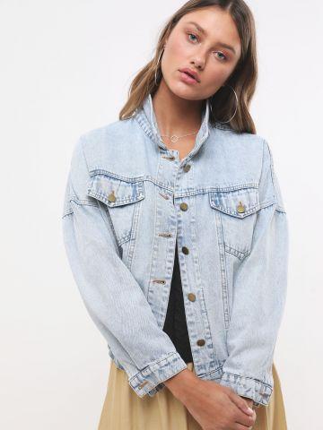 ג'קט ג'ינס עם כפתורים וכיסים