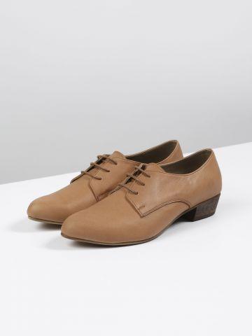 נעלי אוקספורד מעור / נשים