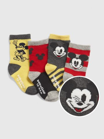 מארז 4 זוגות גרביים בהדפס מיקי מאוס / בייבי בנים