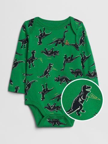 בגד גוף בהדפס דינוזאורים / 0-24M