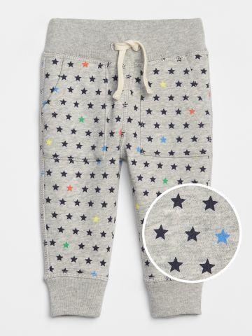 מכנסי טרנינג ארוכים בהדפס כוכבים / 0-24M