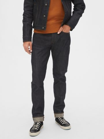 ג'ינס Slim-fit בשטיפה כהה