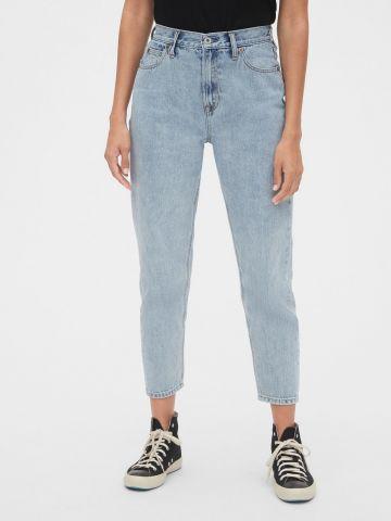 ג'ינס קרופ בגזרה ישרה ובשטיפה בהירה Gap 50th anniversary