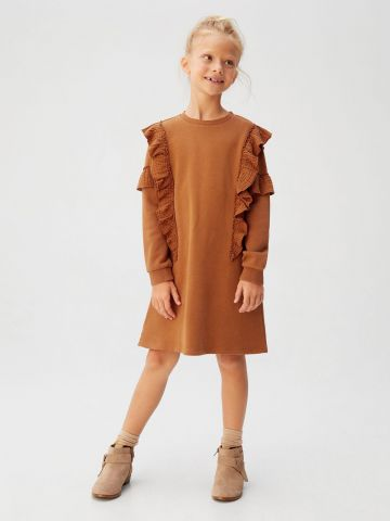 שמלת סווטשירט עם עיטורי מלמלה