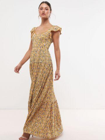 שמלת מקסי בהדפס פרחים X Sabina Musayev