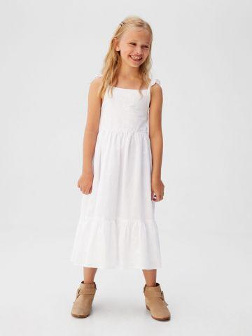 שמלת מקסי עם עיטורי רקמה
