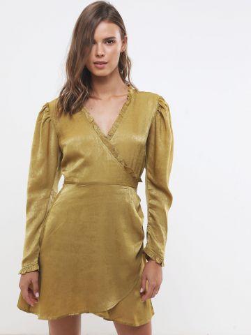 שמלת מעטפת סאטן מיני