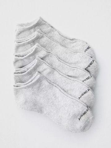 מארז 5 זוגות גרביים נמוכים עם לוגו