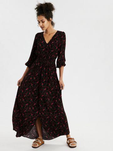 שמלת מקסי בהדפס פרחוני
