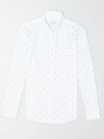 חולצה מכופתרת בהדפס נקודות /  גברים