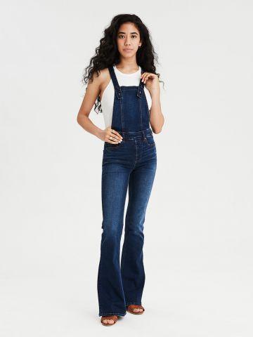 אוברול ג'ינס ארוך מתרחב