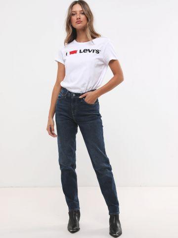 ג'ינס בגזרת Mom  בשטיפה כהה
