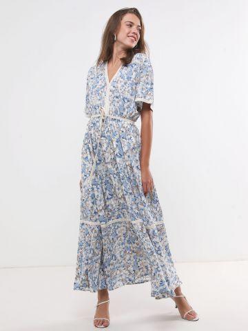 שמלה מקסי בהדפס פרחים