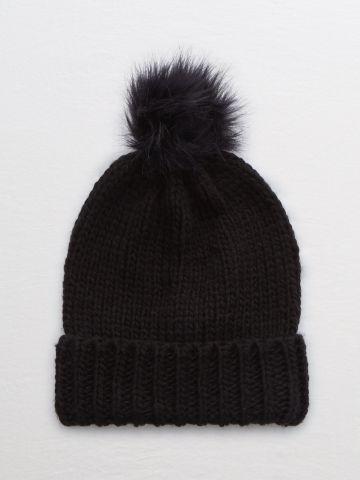 כובע גרב עם פונפון