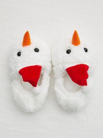 נעלי בית פרוותיות בדוגמת תרנגול / נשים