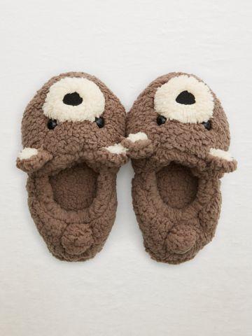 נעלי בית פרוותיות בדוגמת דובי / נשים