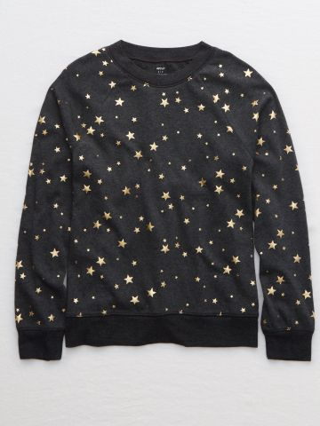 חולצת פיג'מה בהדפס כוכבים