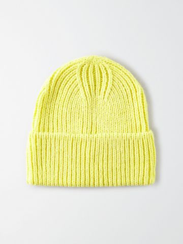 כובע צמר סרוג ניאון