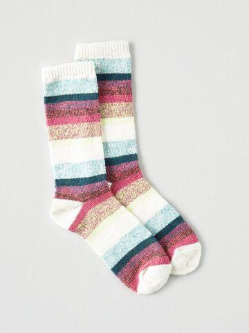 גרביים גבוהים ריב בדוגמת פסים / נשים