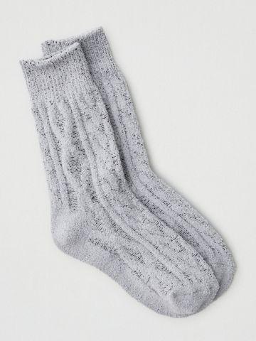 גרביים גבוהים פלאפי בדוגמת קליעה / נשים