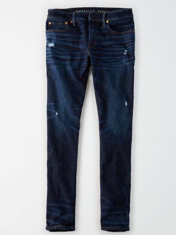 ג'ינס סלים בשטיפה כהה Slim / נשים