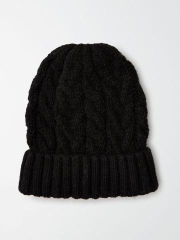 כובע צמר קלוע / נשים
