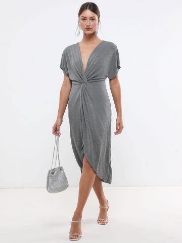 שמלת לורקס מידי עם טוויסט X שושיין
