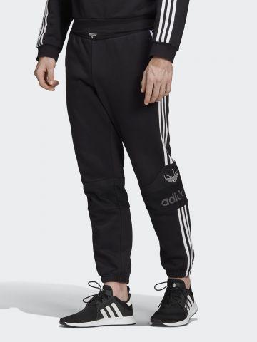 מכנסי טרנינג ארוכים עם סטריפ לוגו