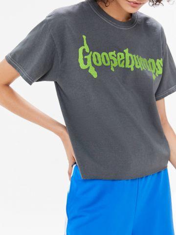 טי שירט קרופ UO Goosebumps