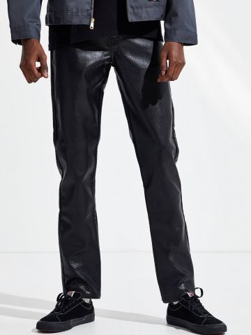 מכנסי סקיני דמוי עור BDG