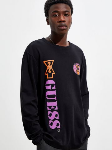טי שירט עם הדפס לוגו GUESS X 88rising