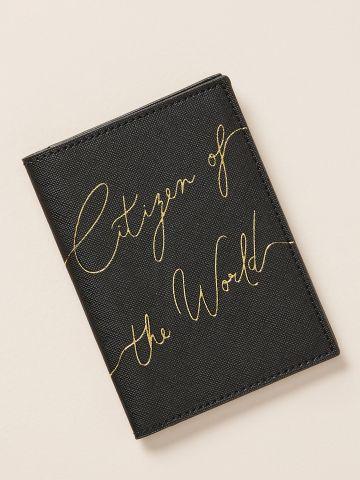 כיסוי דרכון דמוי עור Citizen of the world