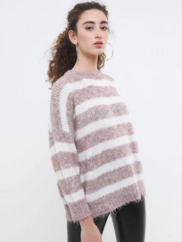 סוודר אוברסייז בדוגמת פסים של TERMINAL X