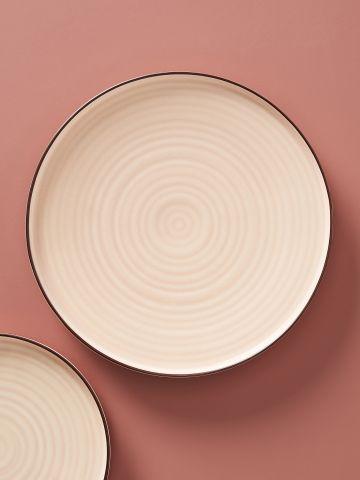 מארז 4 צלחות חרס עם שוליים מודגשים Ilana / עיקרית