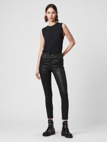 ג'ינס סקיני סטרץ' דמוי עור Superstretch Skinny