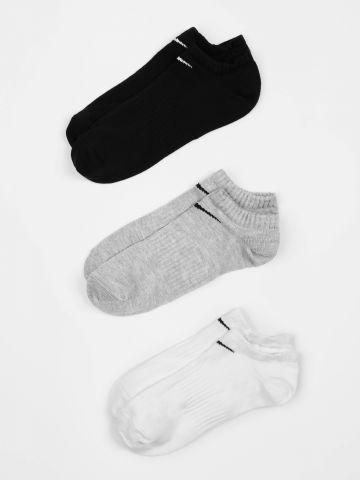 מארז 3 זוגות גרביים נמוכים עם לוגו / גברים של NIKE