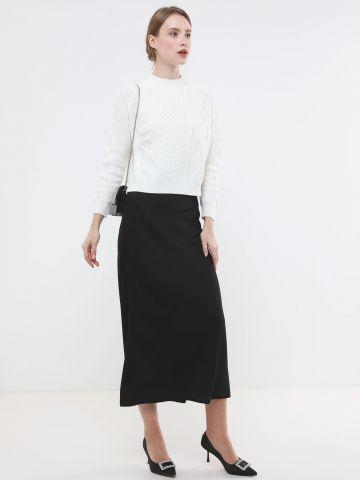חצאית מקסי בגימור מבריק