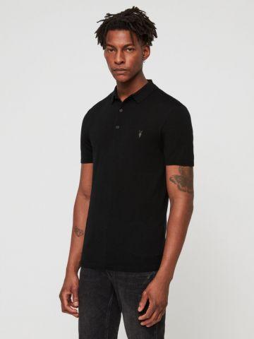 חולצת פולו צמר עם רקמת לוגו