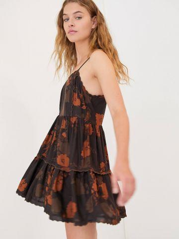 שמלת קומות מיני בהדפס פרחוני UO