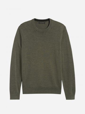 סוודר צמר חלק / גברים