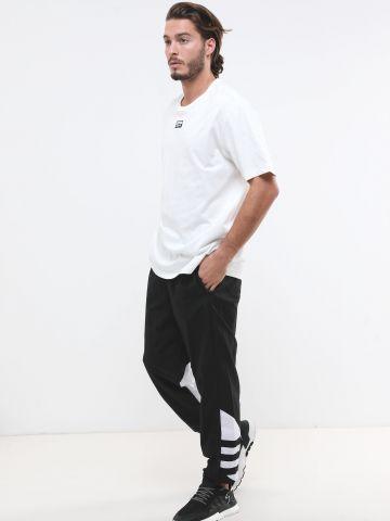 מכנסי ניילון עם פאנלים לוגו
