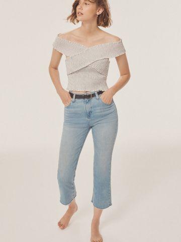 ג'ינס 7/8 בגזרה גבוהה BDG