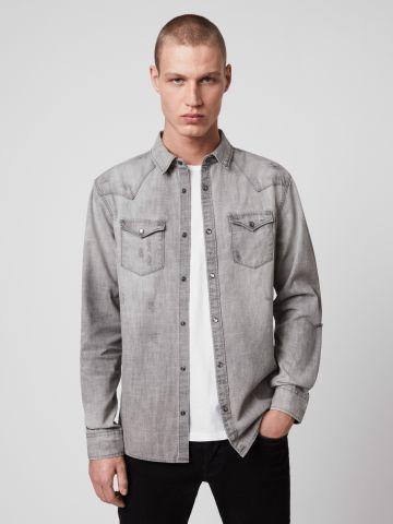 חולצת ג'ינס מכופתרת Regular Fit